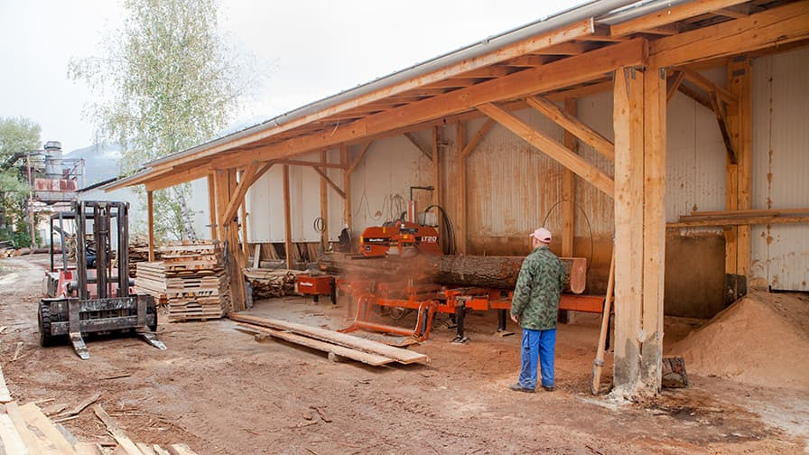 At the moment the monastery operates two Wood-Mizer sawmills