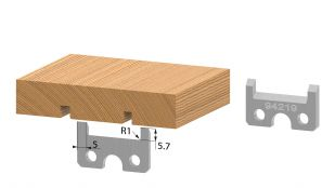 Para noży profilowych 40 mm HSS
