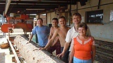 Matusiak family with their LT15 sawmill