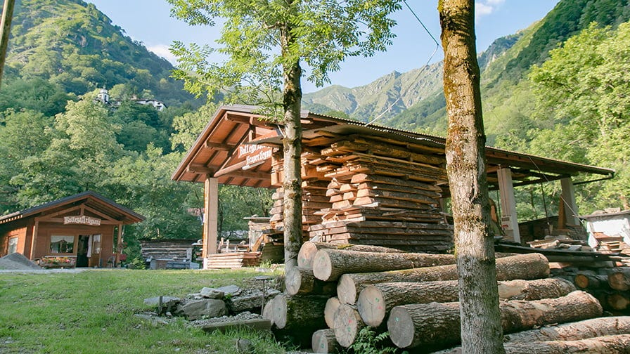 For the Perreti family wood is essential part of their life