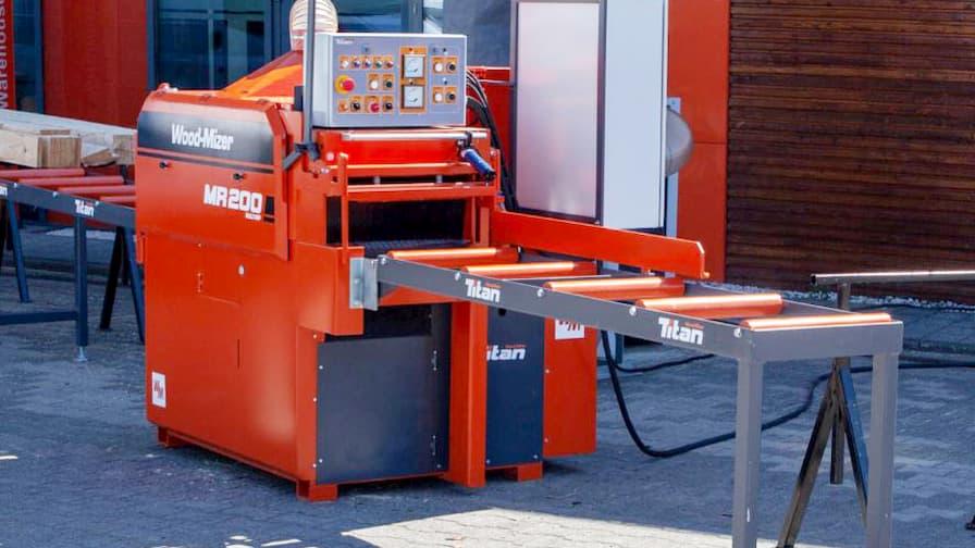 Wielopiła dwuwałowa MR200 zaprojektowana do wydajnego rozrzynania kantówek na wysokiej jakości deski