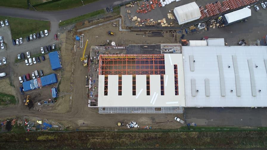 Rozbudowa hali produkcyjno-biurowej Wood-Mizer - Listopad 2020 (2)