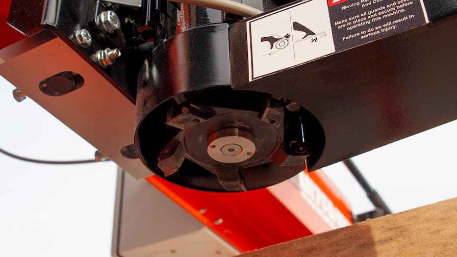 Slab Flattener Wood-Mizer MB200 SlabMizer the cutterhead underneath