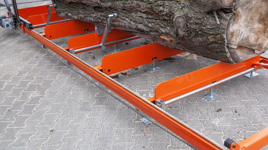 Trak Wood-Mizer LX250 i łoże wraz z kłodą o max średnicy 140 cm